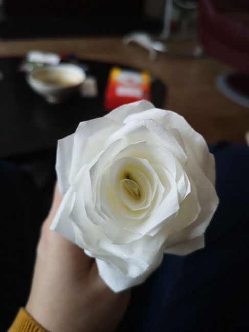 Tutoriel Rose en filtre à café pour boule 3
