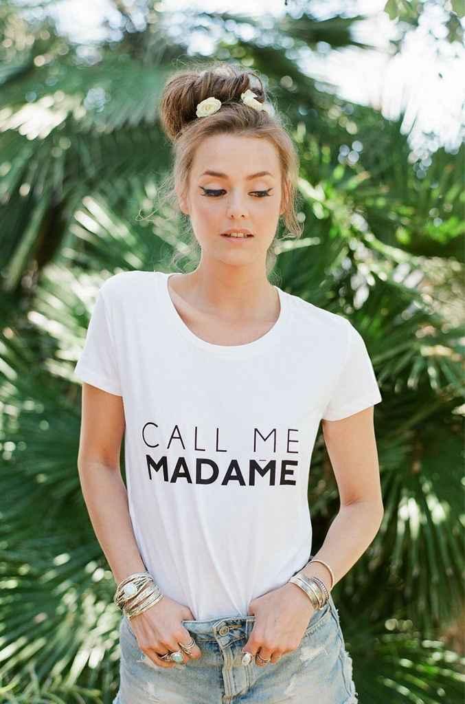 Tee shirt call me madame - 1