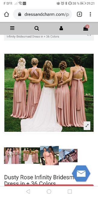 Robe demoiselles d'honneur multiposition - 2