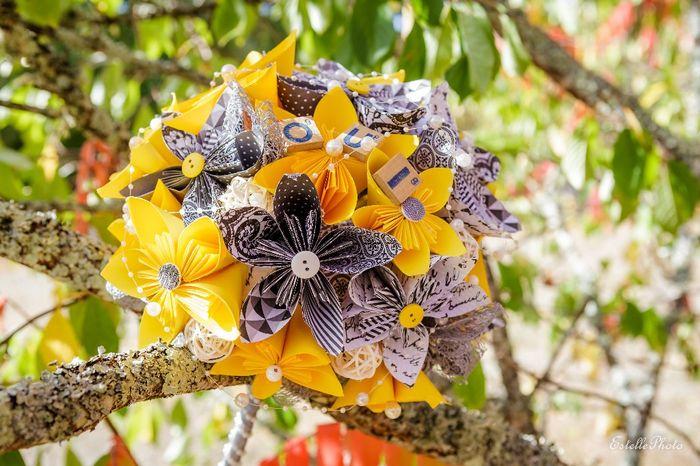 bouquet origami fini