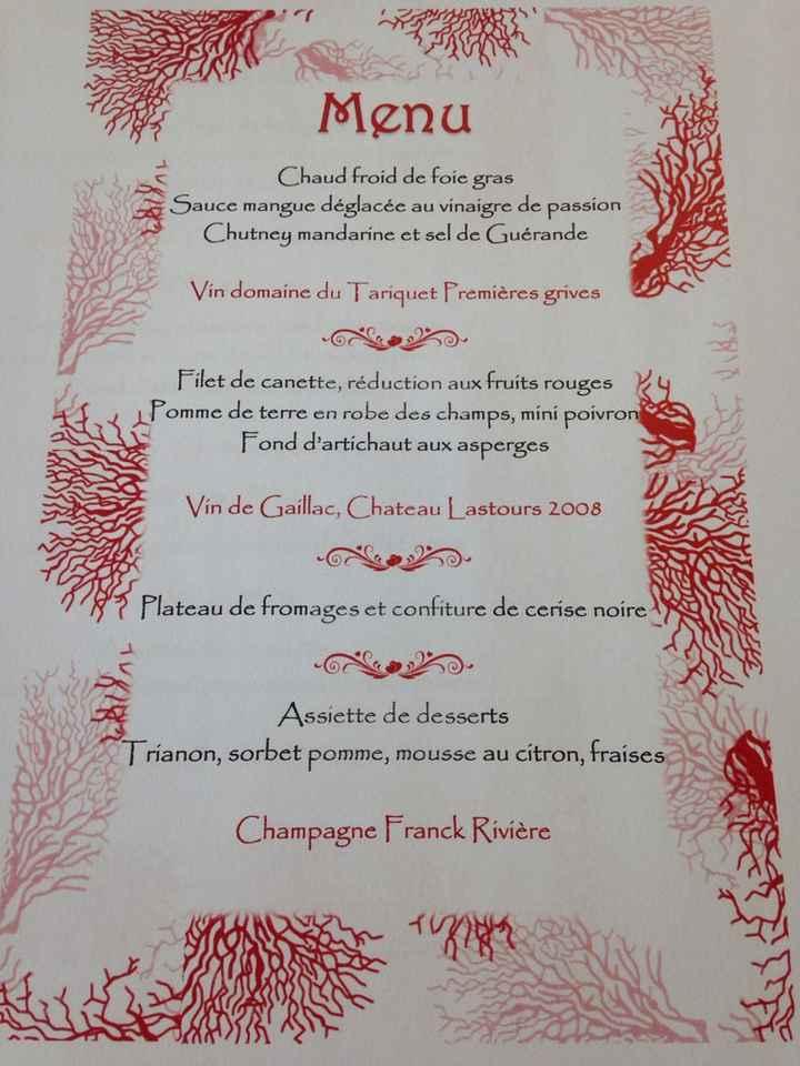 Affiche menu - 1