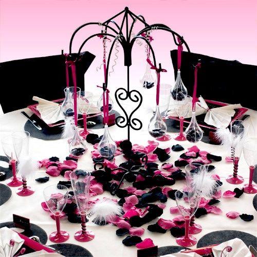 Recherche d co noir fushia argent d coration forum - Deco de table noir et rose ...