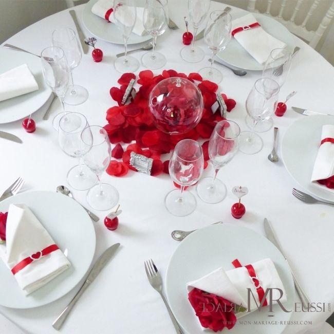 th me de mon mariage rouge passion qu 39 en pensez vous d coration forum. Black Bedroom Furniture Sets. Home Design Ideas