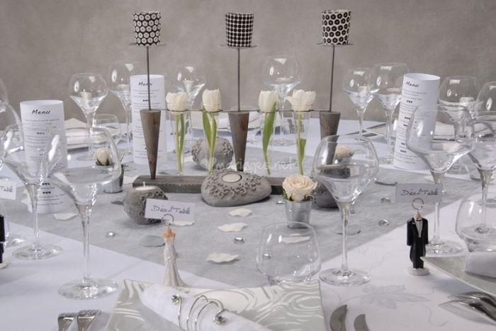 decoration mariage blanc et gris