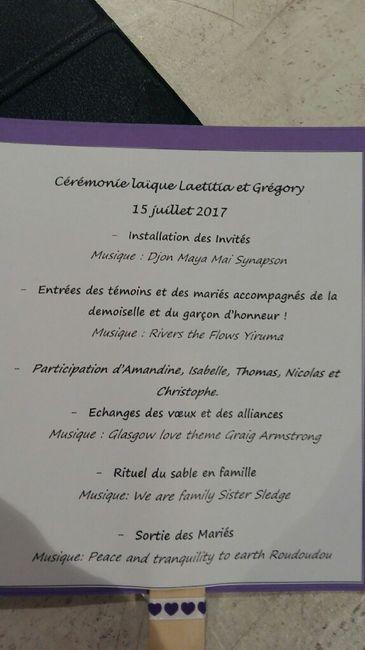 Programme cérémonie laïque - 2