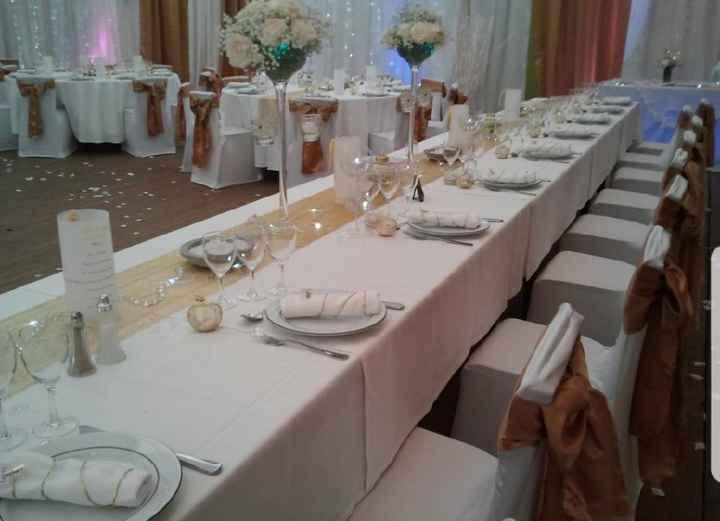 Décoration de la Table Blanc/or - 4
