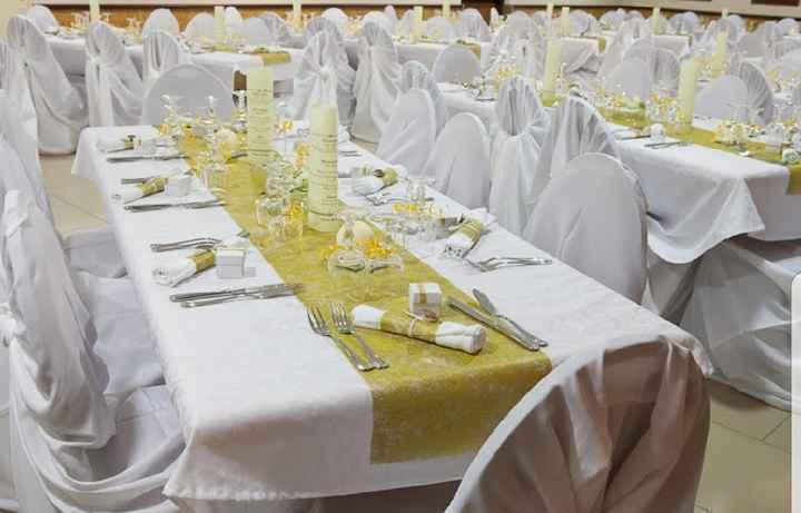 Décoration de la Table Blanc/or - 6