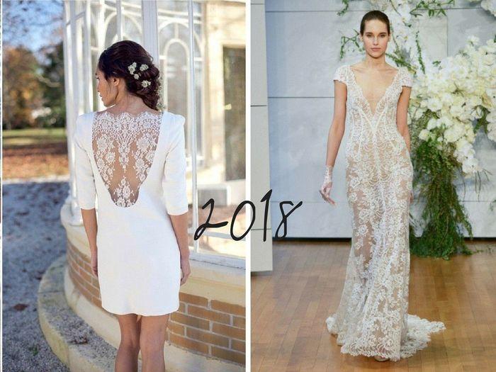 Tendances 2017 VS 2018 : la robe de mariée 3