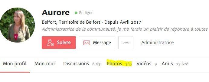 Combien de photos avez-vous postées ? 1