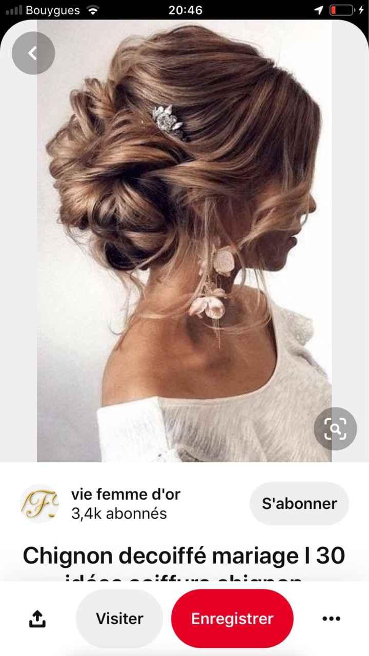 Coiffure cheveux mi long - 1