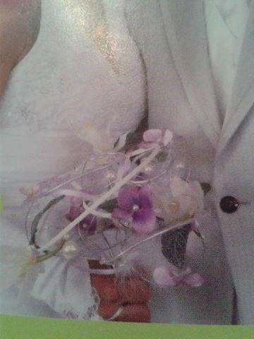 bouquet alu et fleurs