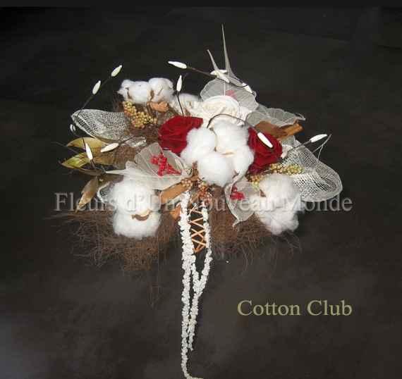bouquet coton