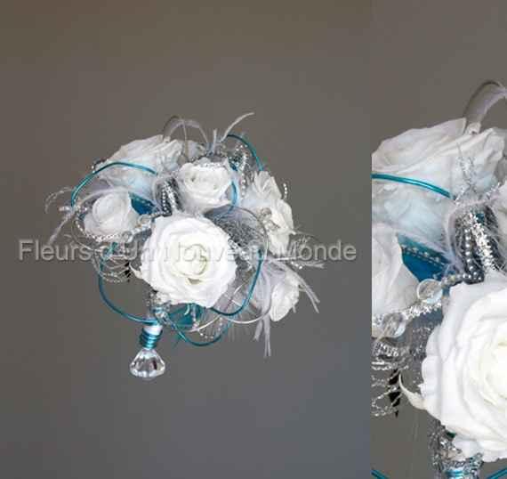 bouquet turquoise