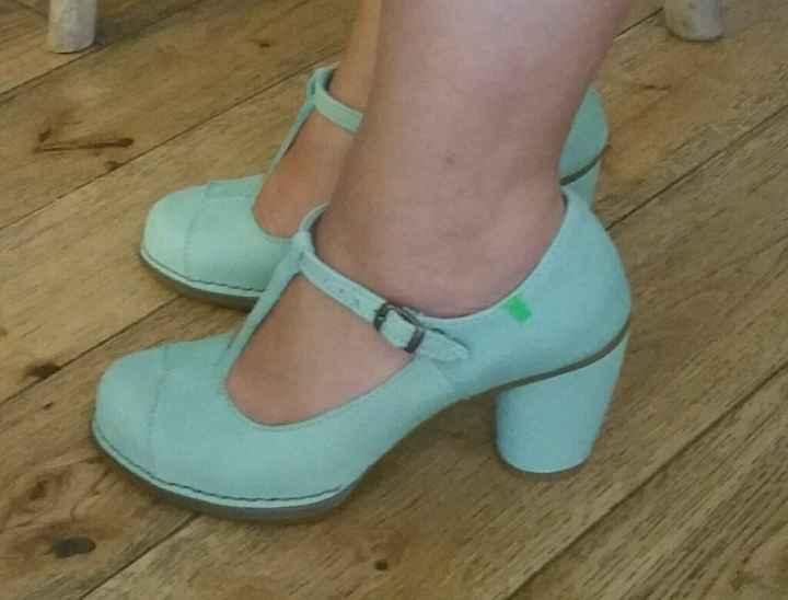Mes chaussures vert d'eau ! - 1