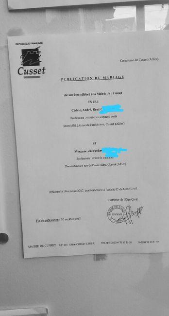 Publication des bans organisation du mariage forum - Publication banc mariage ...