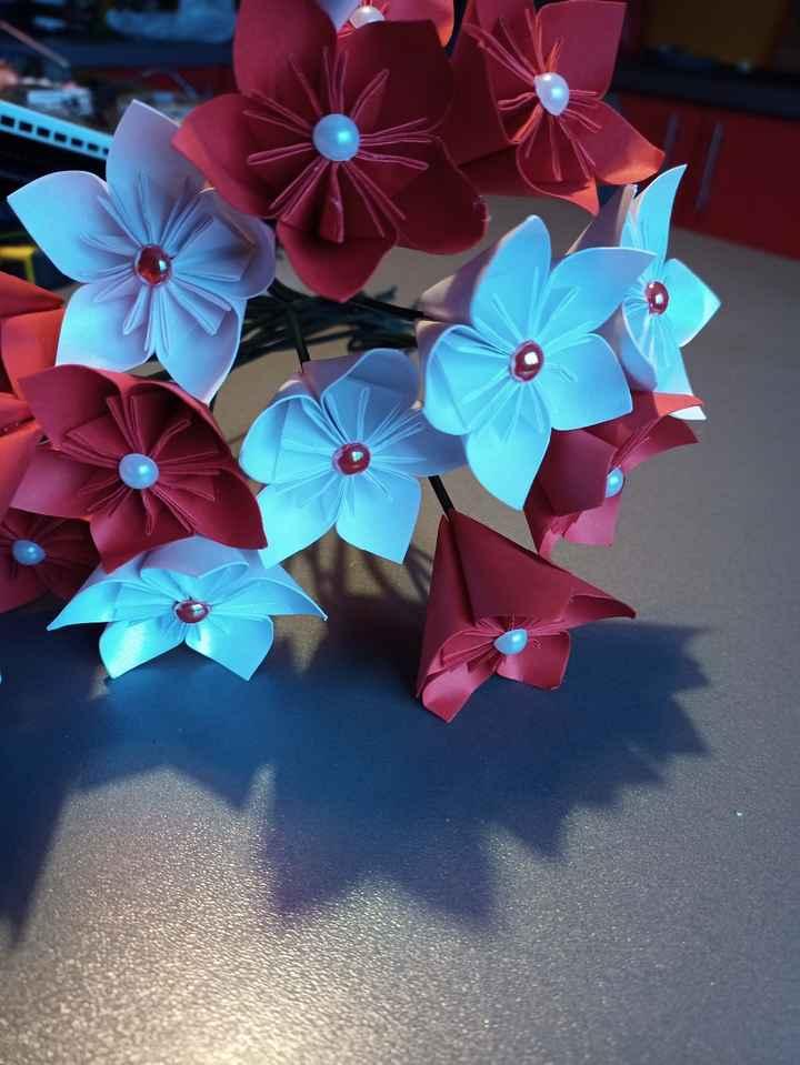 Bouquet fleurs origami 1