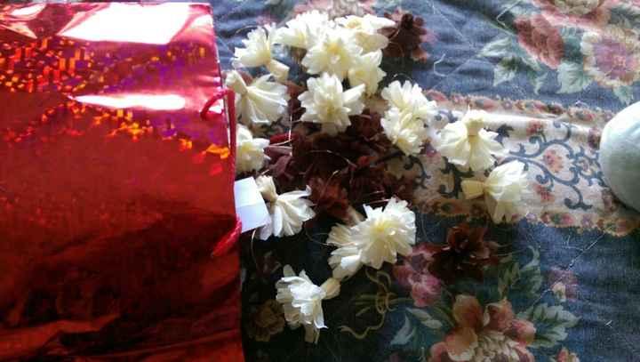 fleurs en papier crépons
