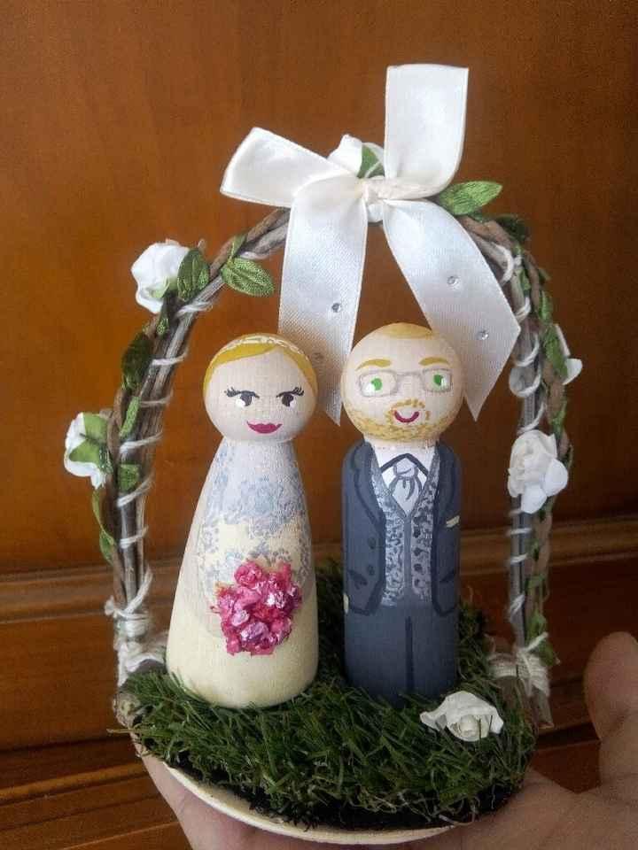 Figurines pièce montée mariage mixte asiatique - 1