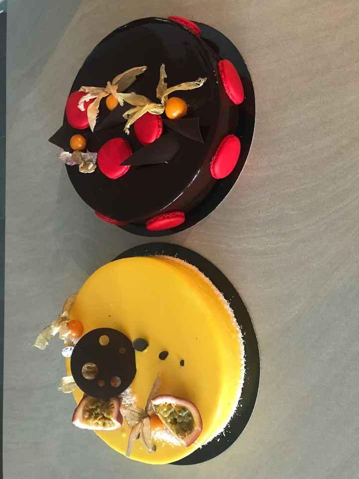 Voici les testes des deux entremets pour le dessert - 1