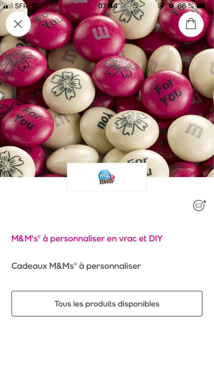 Vente privée - M&m's - 1