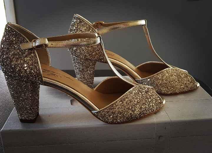 Chaussures Salomé dorée - 1