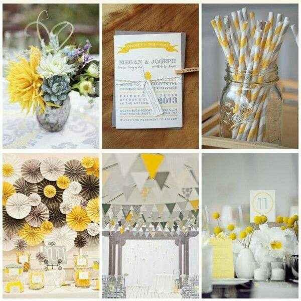 Mariage jaune et gris - 1