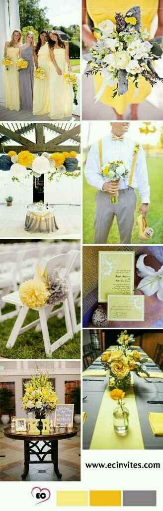 Mariage jaune et gris - 2