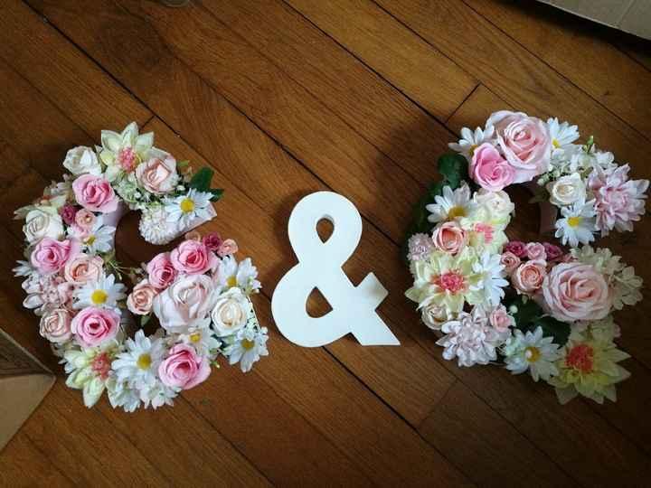 Nos lettres fleuris diy - 1