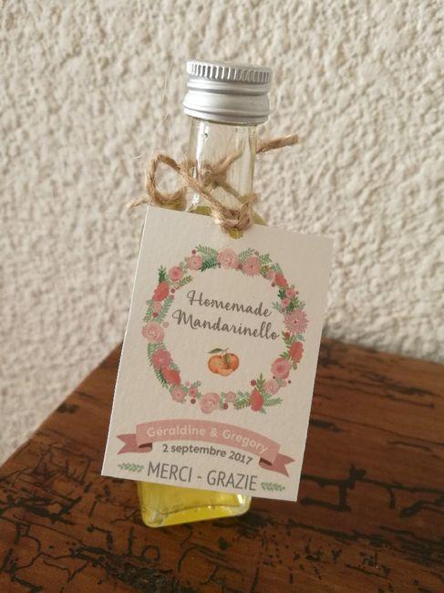 Nos cadeaux invités : liqueur de mandarine - 1
