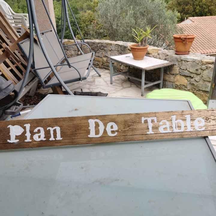 éCriteau plan de table - 1