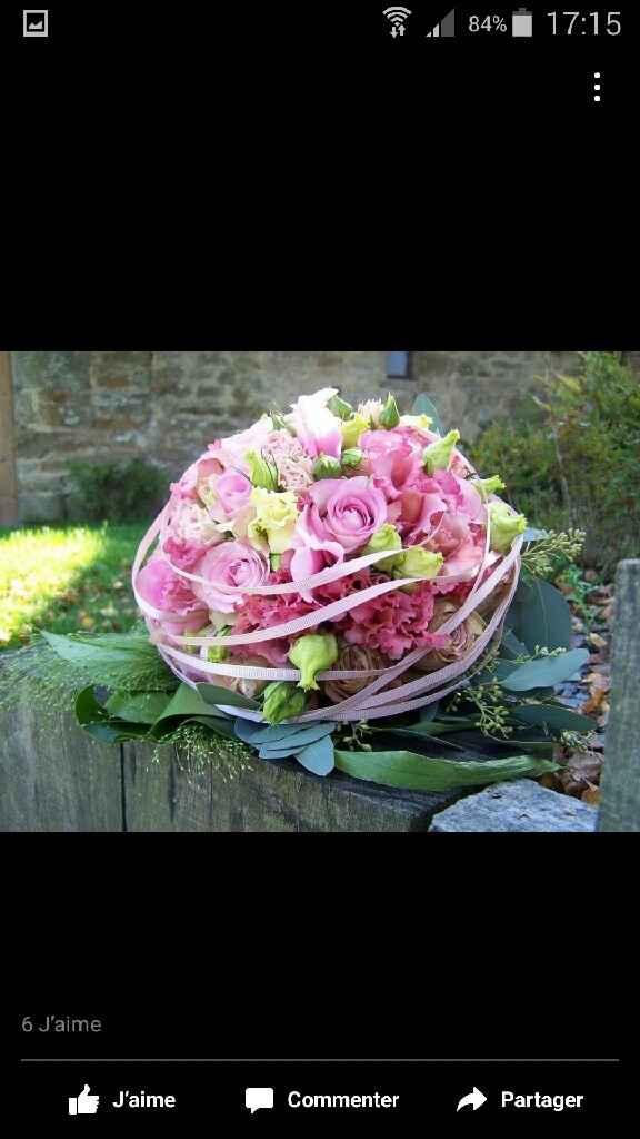 19 bouquets de fleurs roses - 1