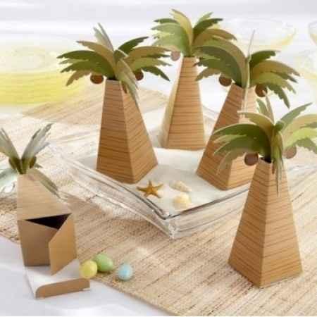 contenant dragées en forme palmier