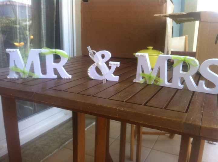 Personnalisation de mr & mrs - 1