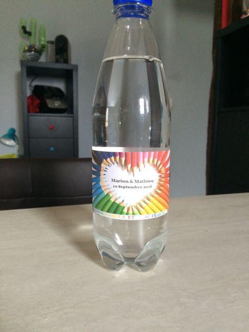 Étiquettes bouteille d'eau - 1