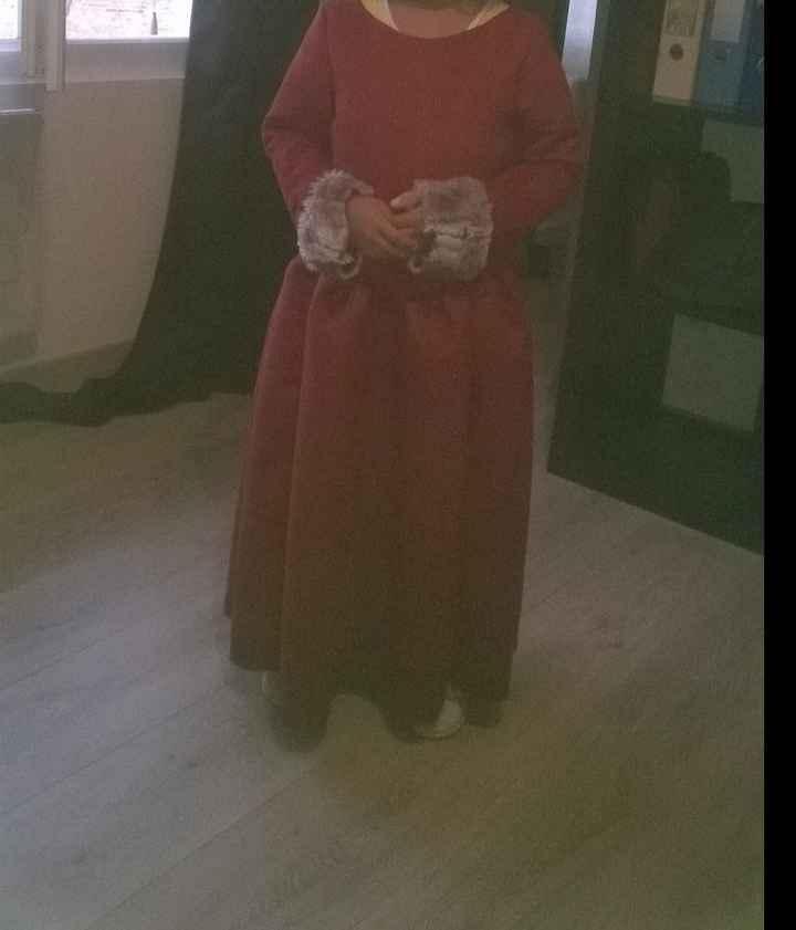 ebauche robe demoiselle d'honneur fait main