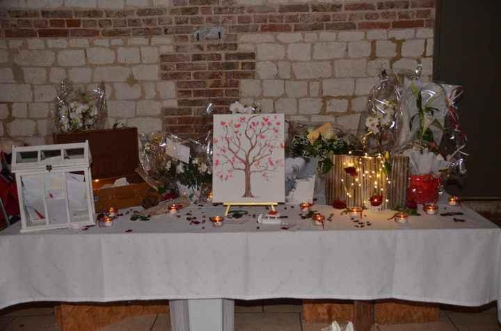table des cadeaux, arbre à empreintes livre d'or