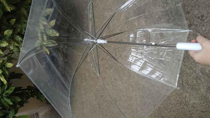 Le parapluie pour les mariage sous la pluie ! qui y a songé ? - 1