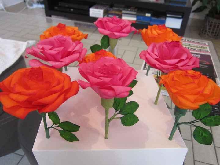 roses en filtre à café