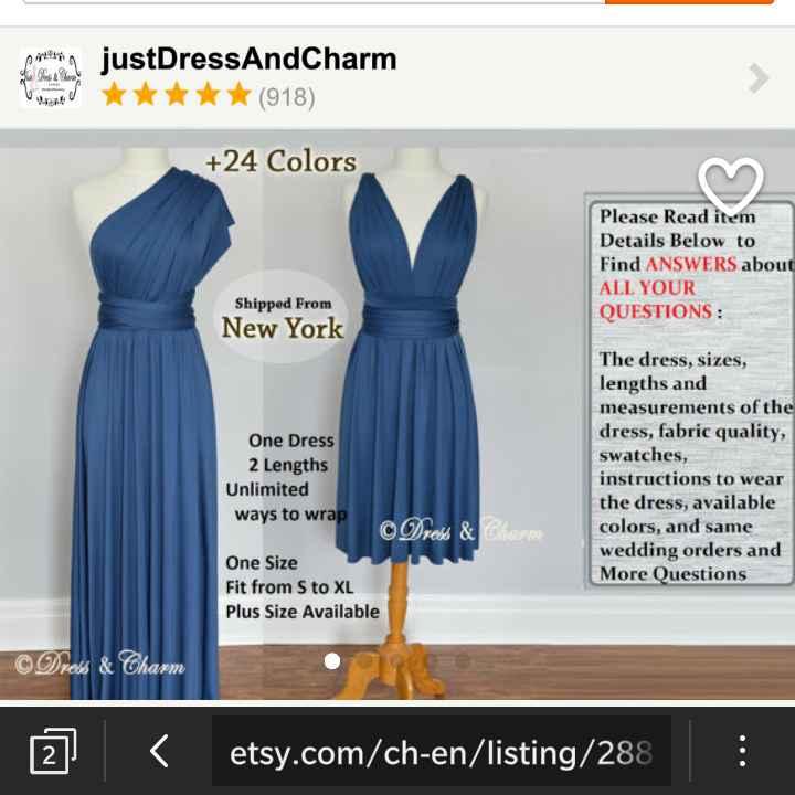 robe etsy bleu