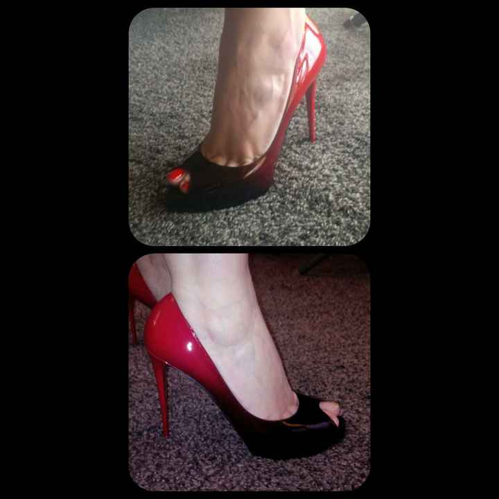 Chaussures Noir et Rouge