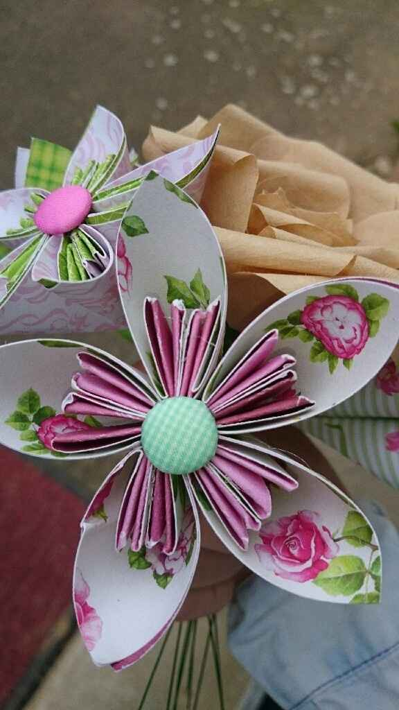 Essaie fleur origami - 4