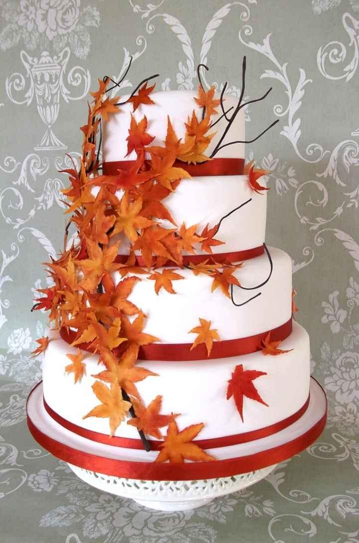 Duel des wedding cake theme automne
