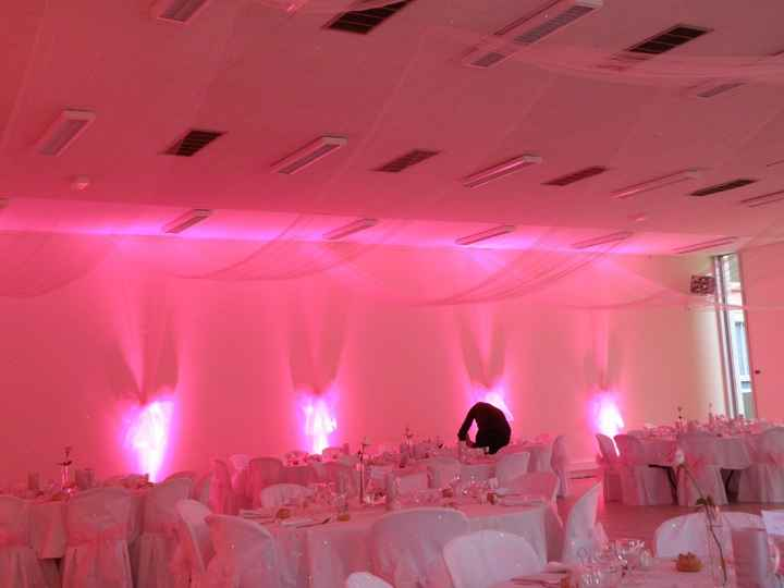 Salle avec les lumières