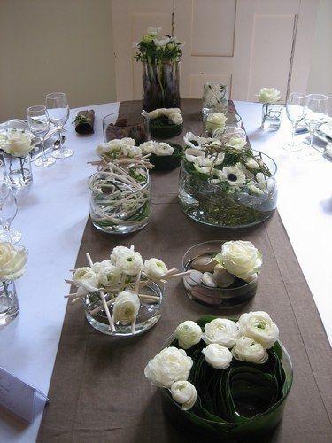 H sitation des centres de table d coration forum - Chemin de table taupe ...