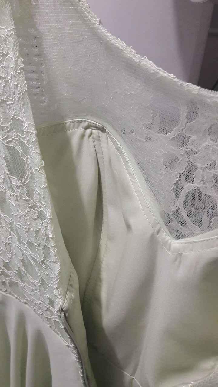 Ma robe de témoin (détail des coutures et de la doublure poitrine)