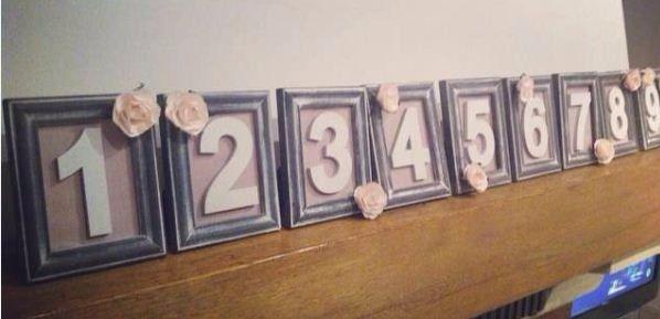 Nos numéros de table DIY