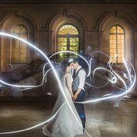 Light painting pour notre mariage