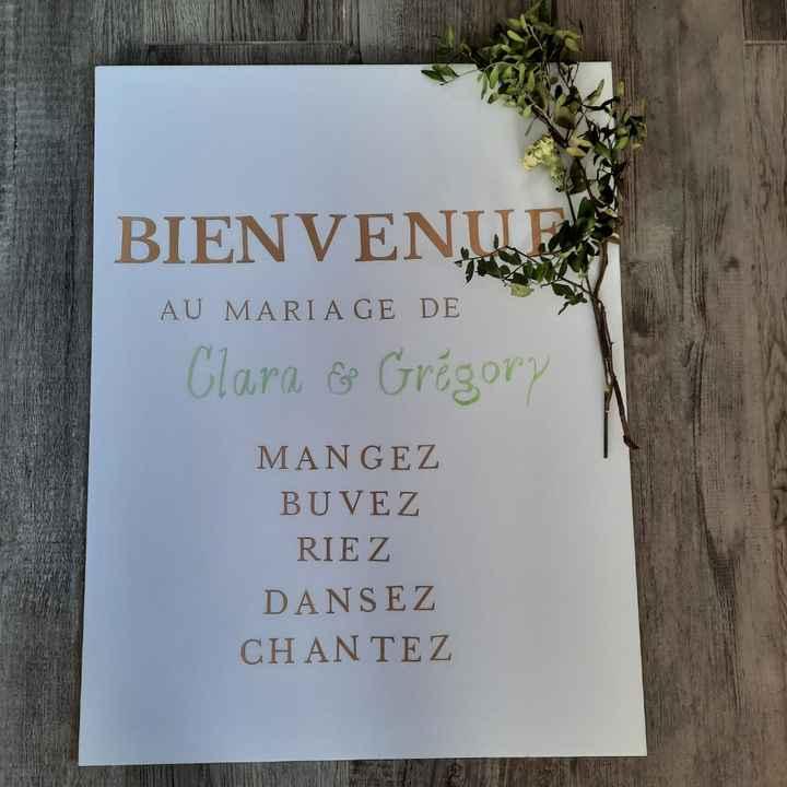 diy Panneau de bienvenue - 1