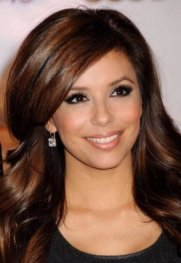 couleur de cheveux chocolat eva longoria coiffures populaires. Black Bedroom Furniture Sets. Home Design Ideas