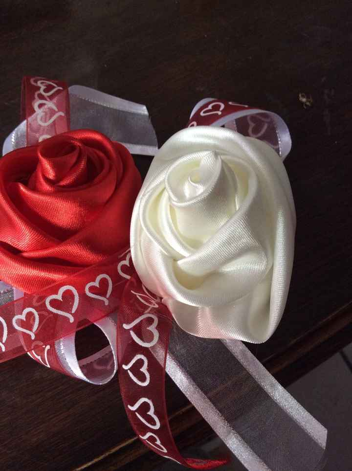 Roses en tissus